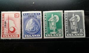 Iceland #232-35 mint hinged e193.3867