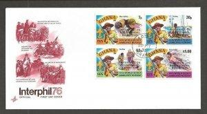 1976 Boy Scouts Ghana 14th World Jamboree ovpt Interphil Artcraft FDC
