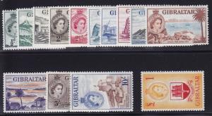 Gibraltar Scott #132 -145 Set VF OG never hinged nice color cv $195 ! see pic !