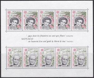 1980 Monaco Scott 1228a Europa MNH