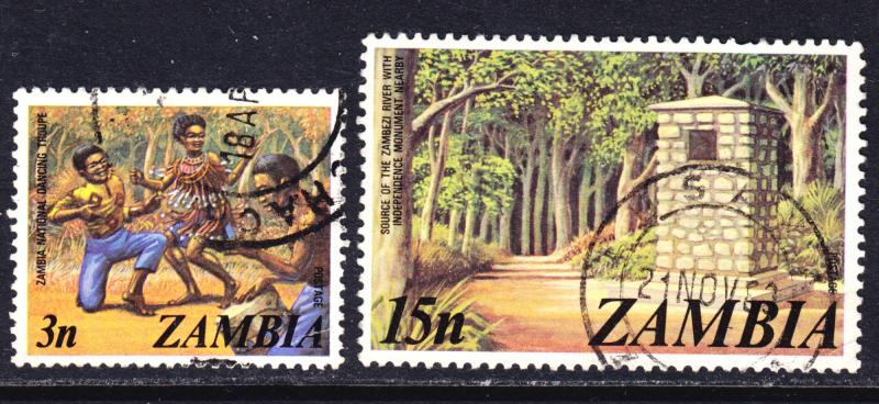Zambia Scott 137, 143  F to VF used.