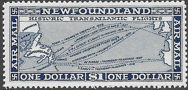 Newfoundland Airmail Stamp Scott Number C8 FVF NH Sale was $30 now 20% Off