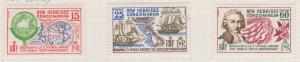 British New Hebrides Sc#127-129 MH
