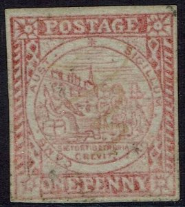NEW SOUTH WALES 1850 SYDNEY VIEW 1D PLATE II USED