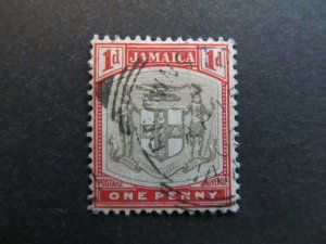A4P21F7 Jamaica 1903-04 Wmk Crown CA 1d used