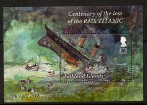 FALKLAND ISLANDS SGMS1230 2013 TITANIC MNH