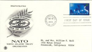 1999, 50th Anniv. NATO,PCS, FDC (E7802)