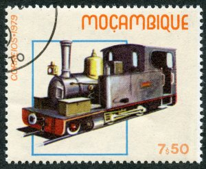 Railroads: Locomotive No. 9 (1892), Delagoa Bay, 1979 Mozambique, Scott #659