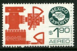 MEXICO Exporta C597, $1.90P Oil valves Wmkd Fosforescent. Paper 2 MNH