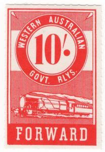 (I.B) Australia - Western Australia Railways : Parcels 10/-