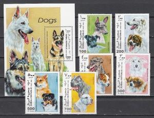 Somali Rep. 1999 Cinderella issue. Various Dogs set and s/sheet.