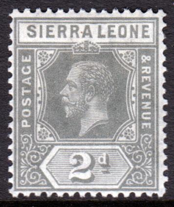 Sierra Leone KGV 1912 2d Greyish Slate SG115 Mint Lightly Hinged