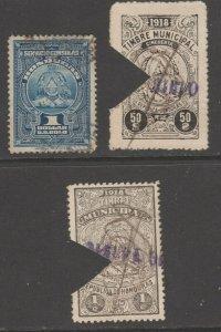 Honduras tax revenue fiscal collection stamp ml335 as seen cut cancel