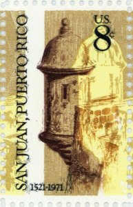 1437, Huge Color Shift ERROR on 8¢ San Juan Puerto Rico Stamp - Stuart Katz