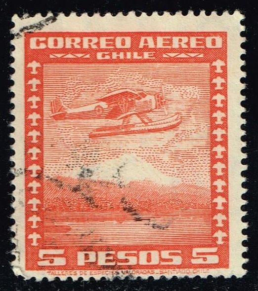 Chile #C43 Seaplane; Used (0.25)