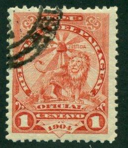 Paraguay 1908 #O60 U SCV (2018) = $0.30