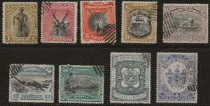 North Borneo 9 different Used (59 MNH) F/VF 1894 SCV $12.25 (jr)