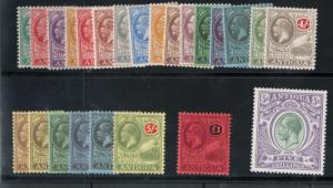 Antigua #41 - #64 Very Fine Mint Original Gum Complete For Both Watermarks