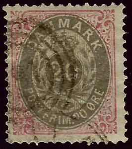 Denmark SC#31 Used F-VF hr ...steal the deal!!