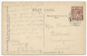Great Britain Scott #161 on Post Card Army Camp Cancel August 25, 1918 Waterfall