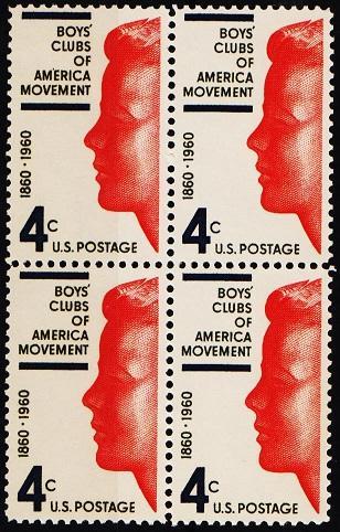 United States. 1960 4c(Block of 4) S.G.1162 Unmounted Mint
