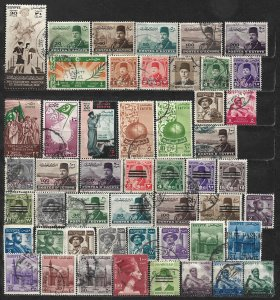 COLLECTION LOT OF 50 EGYPT 1939+ STAMPS CLEARANCE