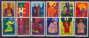 Liechtenstein #430-3, 434-41  MNH CV $6.80  (SU7405)