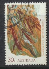 Australia SG 496a - Used  white flourescent paper