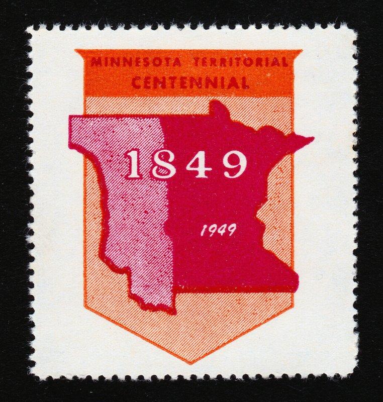 REKLAMEMARKE POSTER STAMP MINNESOTA TERRITORIAL CENTENNIAL 1849-1949