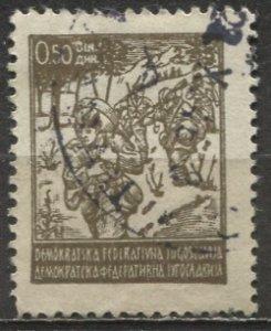 Yugoslavia; 1945; Sc. # 173; O/Used Single Stamp