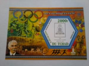 TCHAD CHAD SHEET DELUXE OLYMPIC GAMES SPORTS