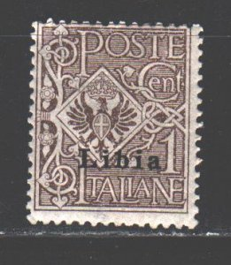 Libya. 1912. 13 of a series. Coat of arms of Italy. MLH.