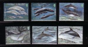 Jersey Sc 951-6 2000 Marine Mammals stamp set mint NH