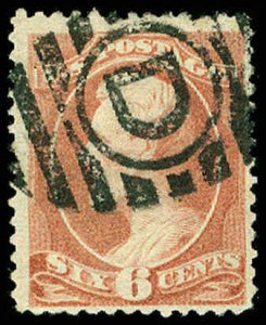 U.S. BANKNOTE CANCELS 208  Used (ID # 63885)