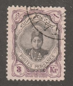 Persian stamp, Scott# 495(e), used, perf 11.5 x12.0, 3KR, centering, APS 495(e)