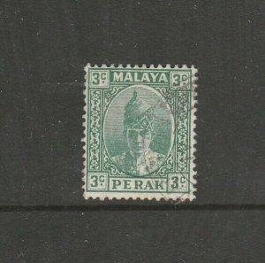 Malaya Perak 1938/41 3c Green, Lightly Used SG 106/a
