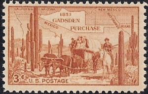 1028 3 cent Gadsden Purchase Centennial mint OG NH VF