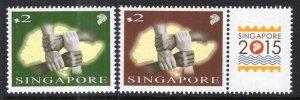 Singapore 1691a-1692b MNH VF