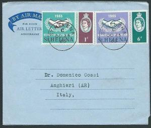 ST HELENA 1965 Formular airletter used to Italy - Anghiari backstamp.......43897