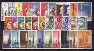 1959 Vatican City - Sc#247- 268, C35-C44. Complete year set - MNH **