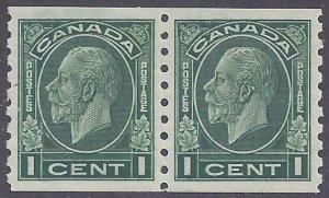 Canada Scott #205 Mint Pair LH VF