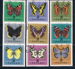 Poland 1542-50 Used set Butterflies 1967 (HV0101)
