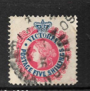 VICTORIA  1905-13  5/-   QV    FU     SG 430a  ...