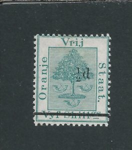 OFS 1882 ½d on 5s GREEN MM SG 36 CAT £26