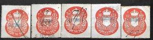 GB FISCAL REVENUE TAX STAMPS QV 1891-1898, 3p