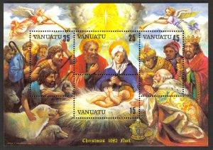 VANUATU 1982 CHRISTMAS Souvenir Sheet Sc 345a MNH