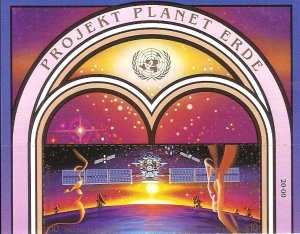 1992 United Nations Vienna Mission to Planet Terra SC# 133-134 Top Mint