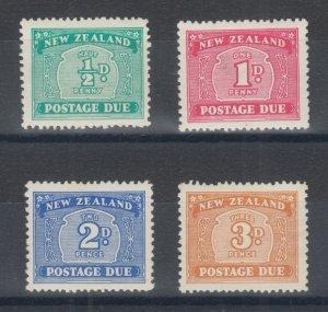 New Zealand Sc J22-J25 MLH. 1939 Postage Dues, complete set, 2p few toned perfs