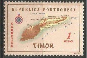 TIMOR, 1956, MNH 1a  Map Scott 280