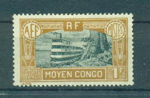 Middle Congo sc# J20 mh cat value $12.00